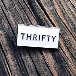 Thrifty • Posh Swag, Lapel Pin, Accessory, New